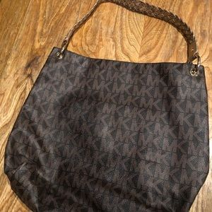 Michael Kors signature purse with gold strap